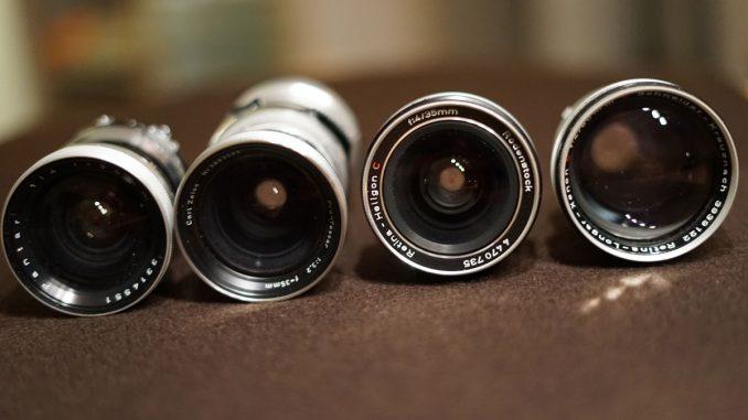 manuelle Objektive der Zeiss Ikon Contaflex und der Kodak Retina Reflex