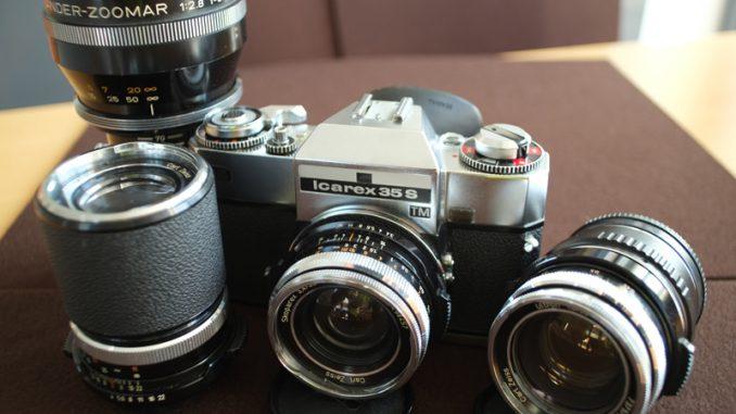 Zeiss Icarex Kamera und manuelle Objektive