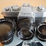 Canon EX mit Wechselobjektiven 1,8 50 3,5 35 3,5 95mm