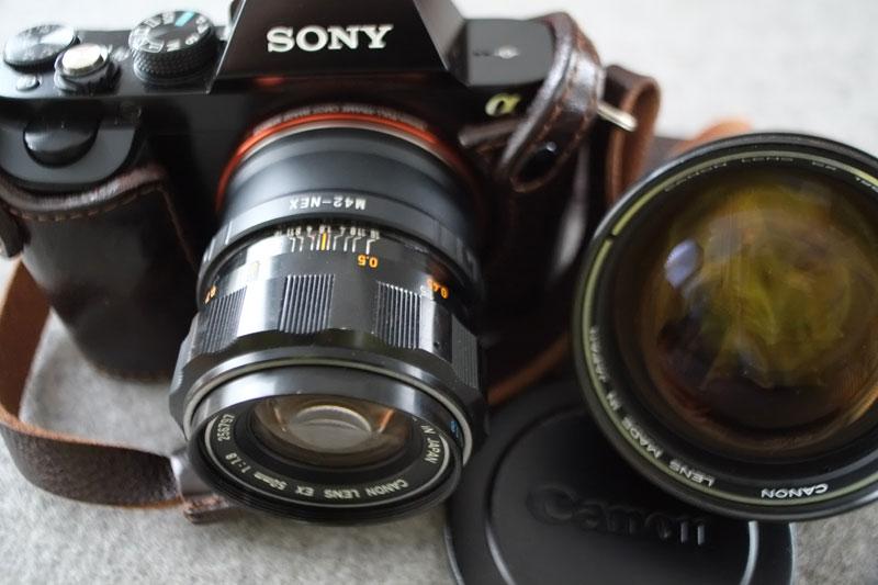 Canon EX an Sony A7